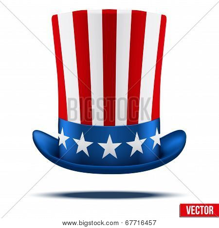 Uncle Sam's hat. Vector Illustration.