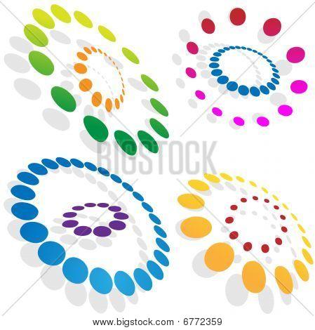 Morphing pontilhada círculos