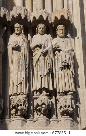 Detail Of The Cathedral Of Amiens, Picardy, France