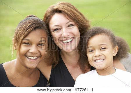 Mother and mixed race daughters