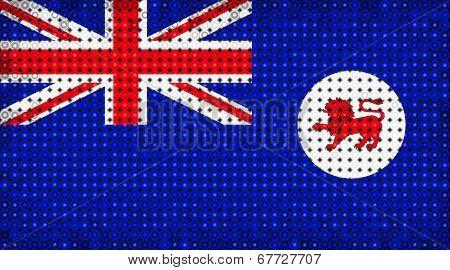 Flag Of Australian State Of Tasmania Lighting On Led Display