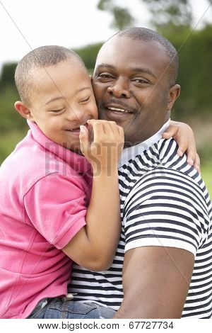 Father with Downs Syndrome son