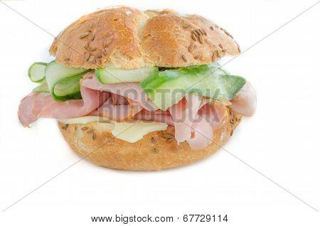 Sandwitch With Prag Ham, Cucumber
