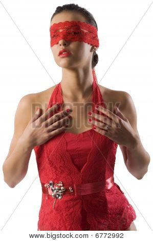 Red Lace Woman