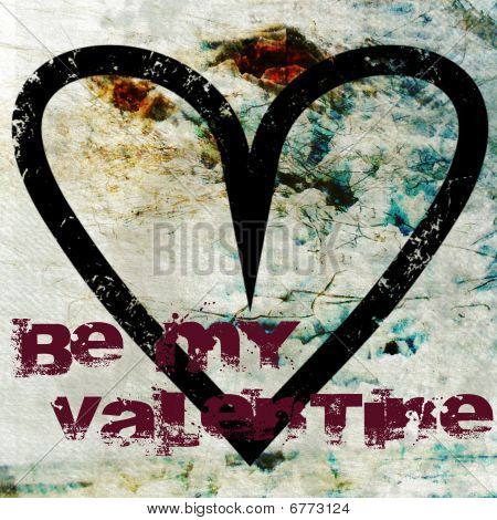 Valentine Background With Be My Valentine Text
