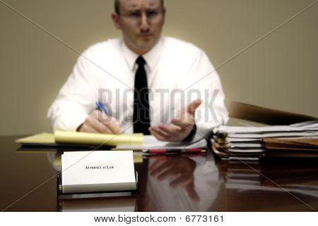 Attorney At Desk