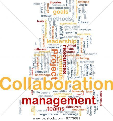 Collaboration Management Hintergrund Konzept