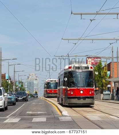 Street Car In Toronto