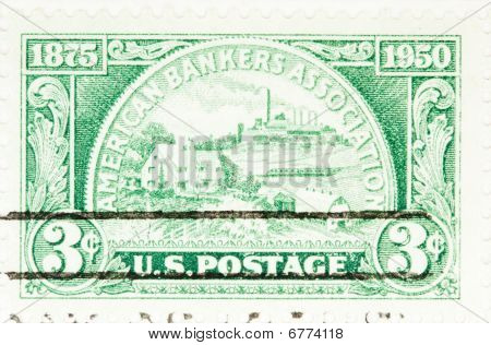 Usa - Circa 1950: A Stamp Printed By Usa Shows American Bankers Association Anniversary Circa 1950
