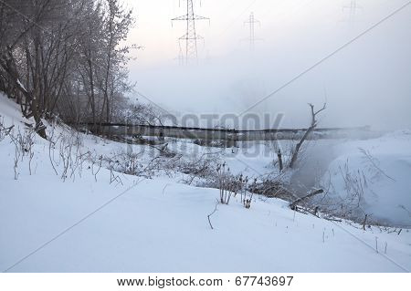Fog At The Winter