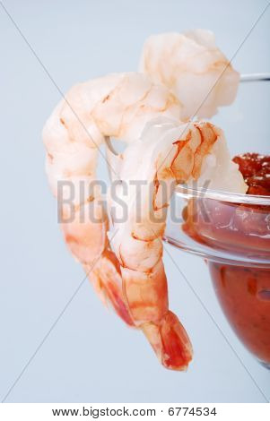 Macro Large Shrimp Cocktail With Sauce