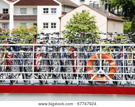 Bicycles On Passenger Ship