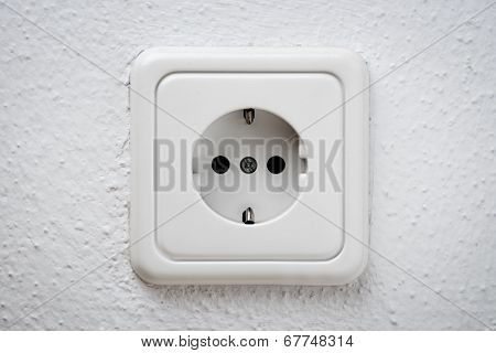 White Socket On Wall