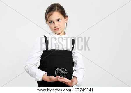 Sad little girl - school problems.