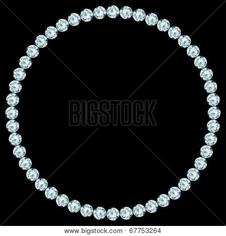 Round frame made of diamonds.