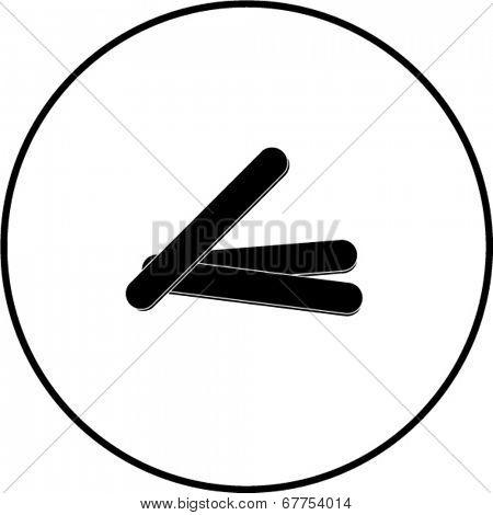 tongue depressors symbol