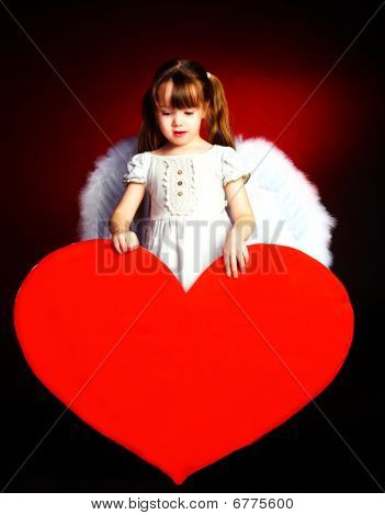 Cute Girl With A Heart