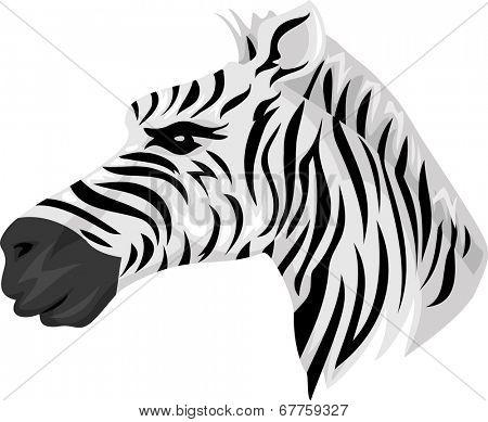 Mascot Illustration Featuring a Zebra