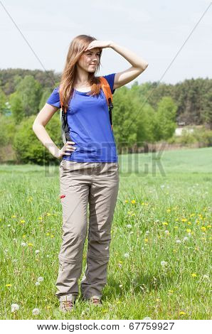 Girl Admiring The View
