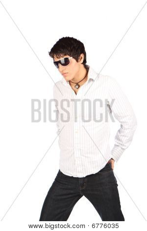 Cool guys with sunglasses