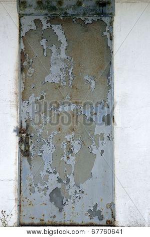 Old rusty steel door