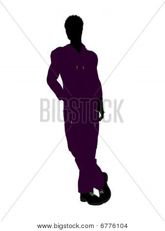 African American Mechanic Silhouette