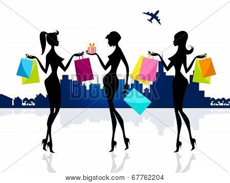 Shopping Shopper Shows Retail Sales And Adults