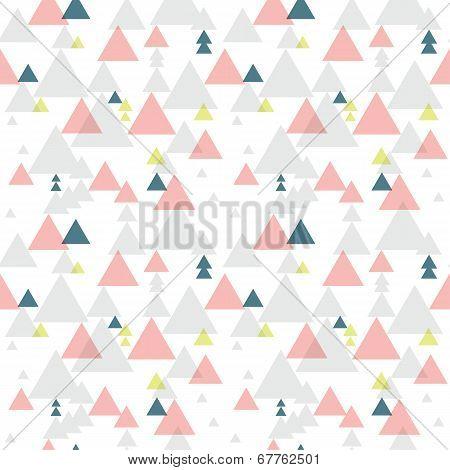 Geometric triangle seamless pattern