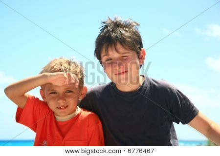Two Kids In The Sun