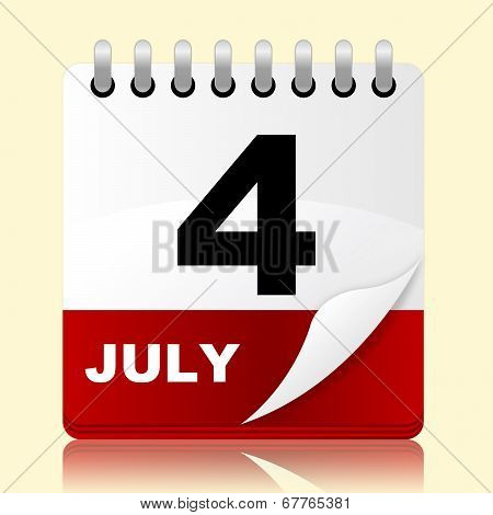 Fourth July Represents Planning Reminder And Month