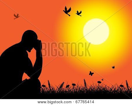 Thinking Depressed Indicates Lost Hope And Despair