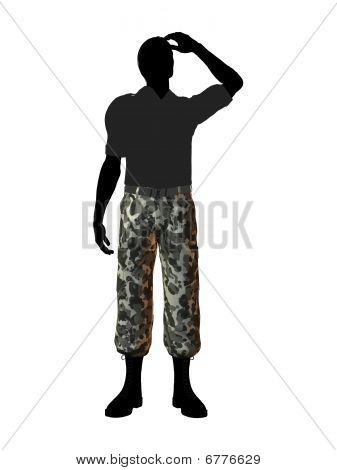 Male Soldier Illustration Silhouette