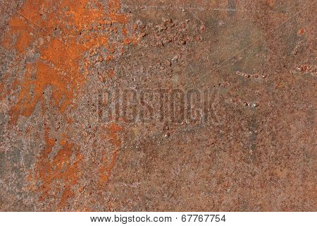 Corrosion of metal.