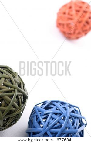 Colorful objects on white