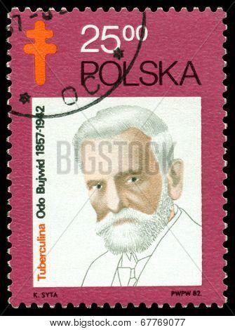 Vintage Postage Stamp. Odo Bujvvid.