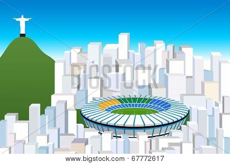 brazil background vector illustration