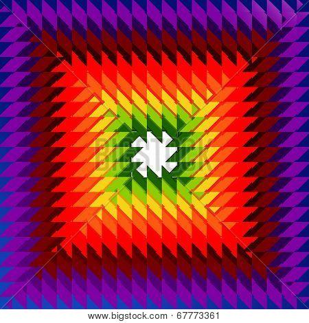 Concentric Rainbow Rhombs