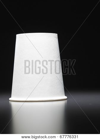 paper cup turn it up side down