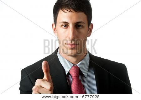 Businessman With Thumbprint