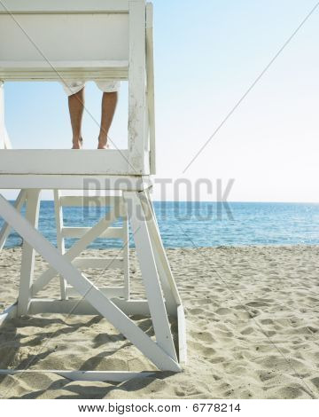 Lifeguard At Beach