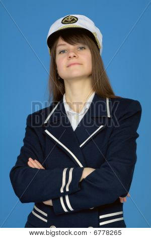 Portrait Of The Proud Woman - Captain On Blue