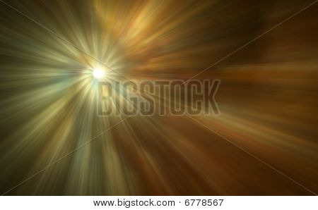 Beautiful Abstract Light Rays