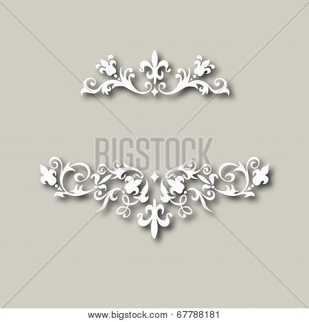 vector illustration of vintage floral ornament