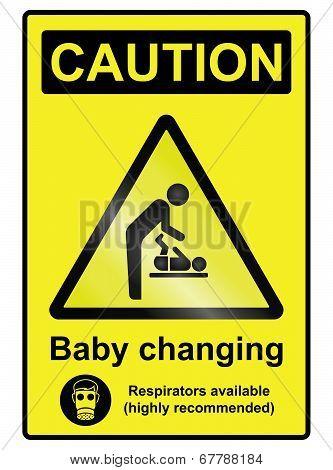 Baby Changing Hazard Sign