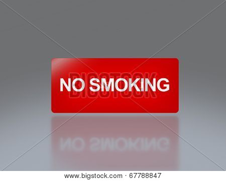 No Smoking Rectangle Signage