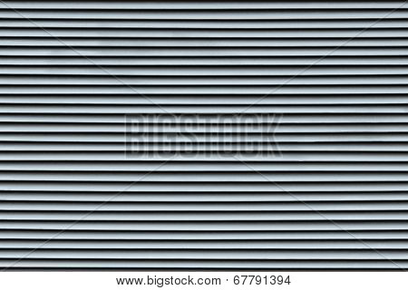 Fragment Of The Painted Blinds Silvery Color