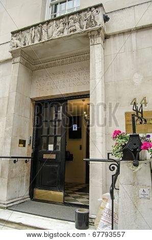 General Medical Council entrance, London