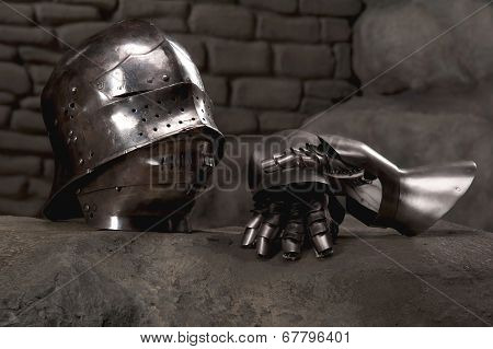 Armor of the medieval knight