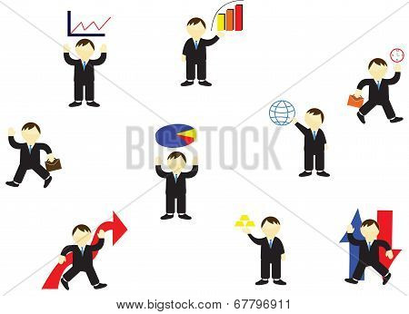 Business And Finance vector illustrations