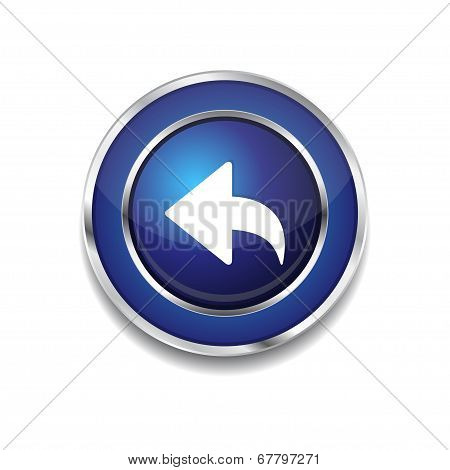 Reset Replay Circular Vector Blue Web Icon Button